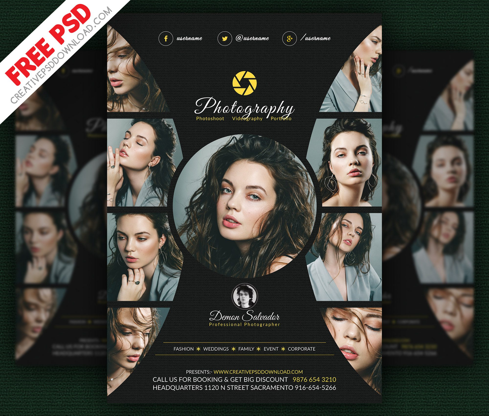 Photography Flyer Free PSD Template