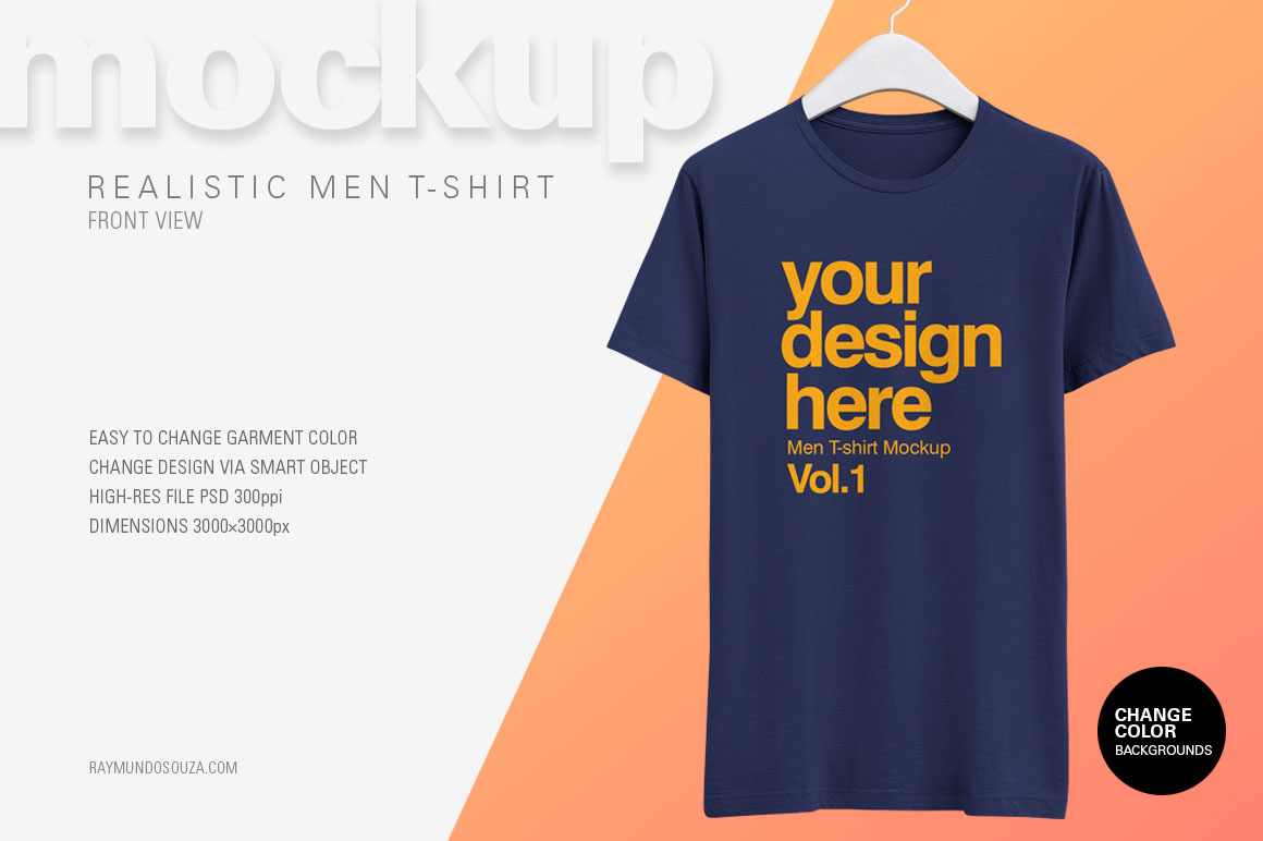 Men's T-Shirt on a Hanger Mockup
