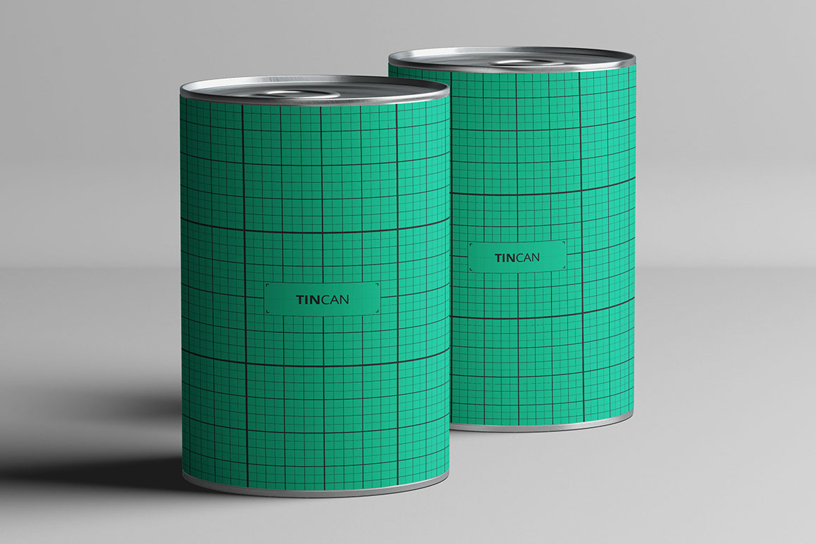 Set of Tin Can Mockups