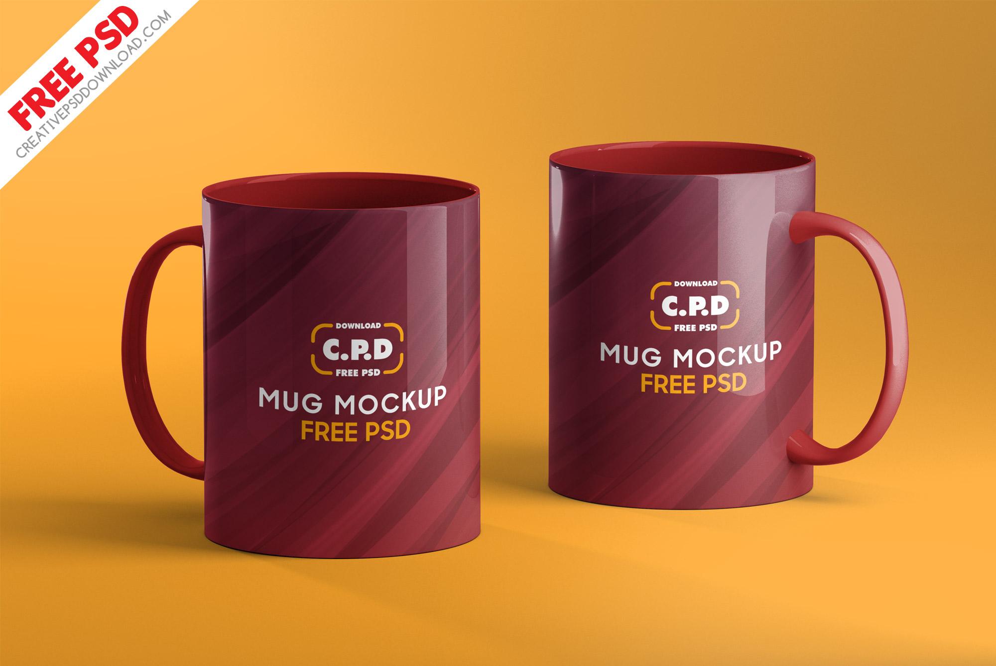 Mug Mockup Free PSD [3 Mug Mockups]