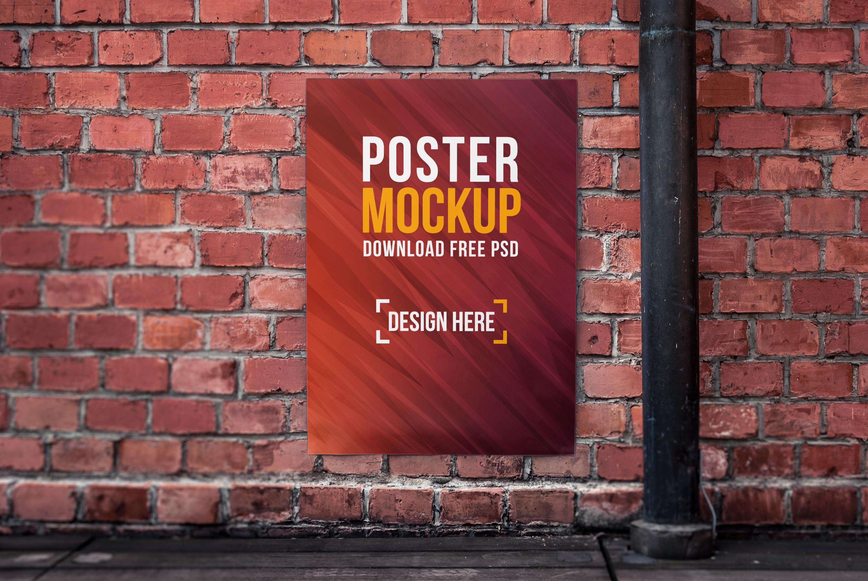 Poster Mockup PSD – 4 Mockups Bundle Freebie