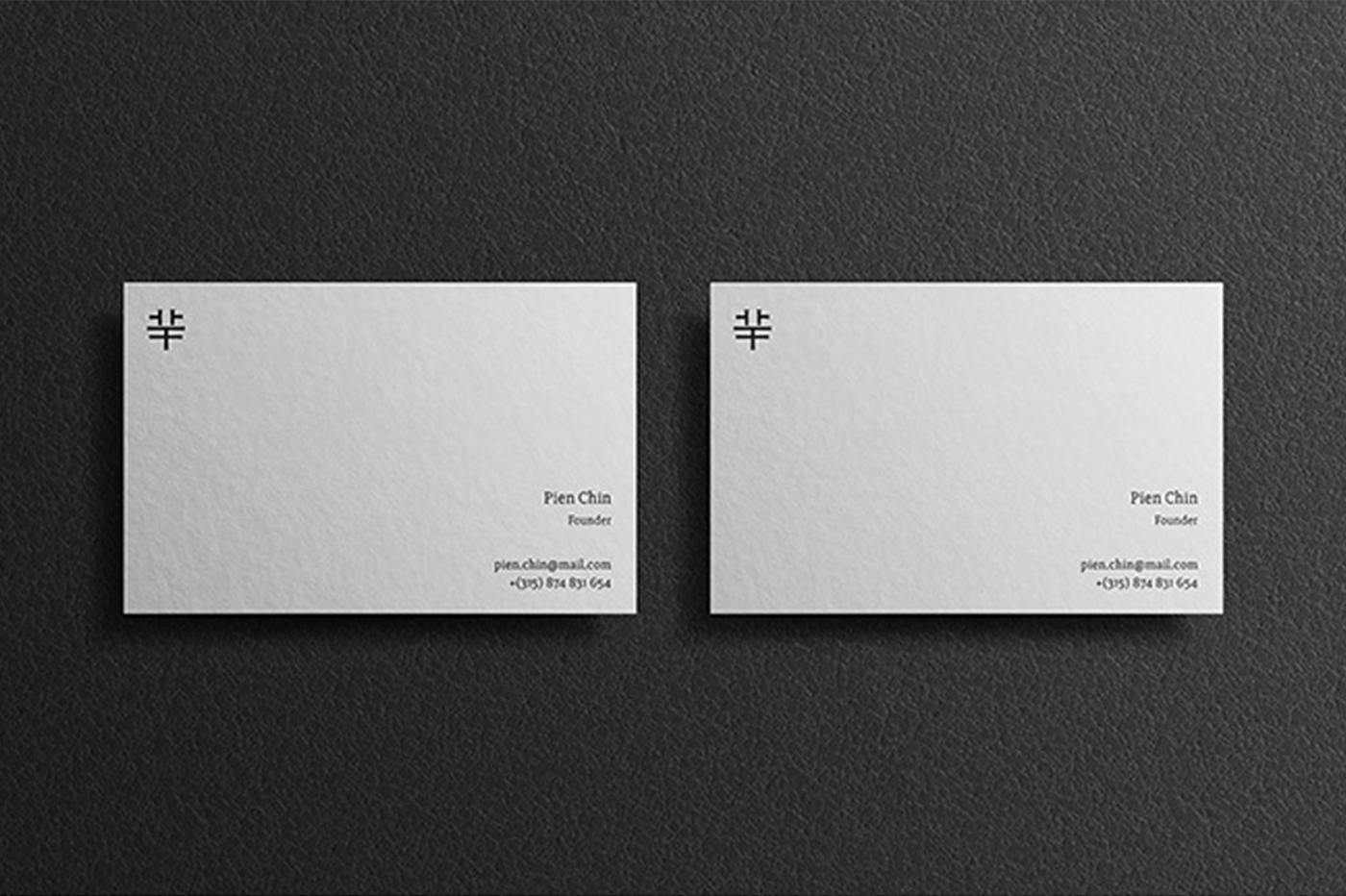 Set of Business Cards Mockups