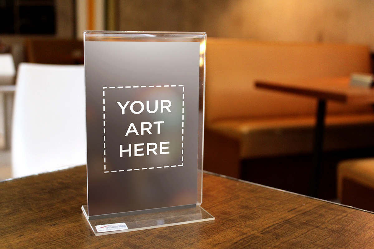 Table Standee Display Mockup