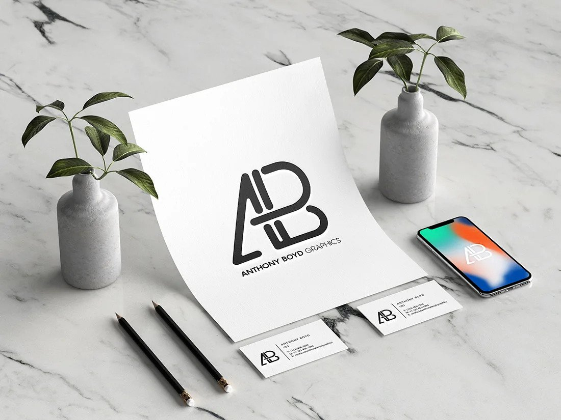 Branding Identity with iPhone Mockup