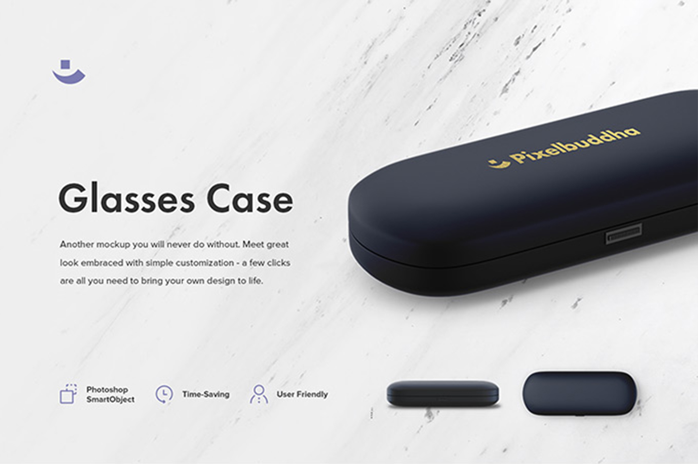 Set of Glasses Case Mockup