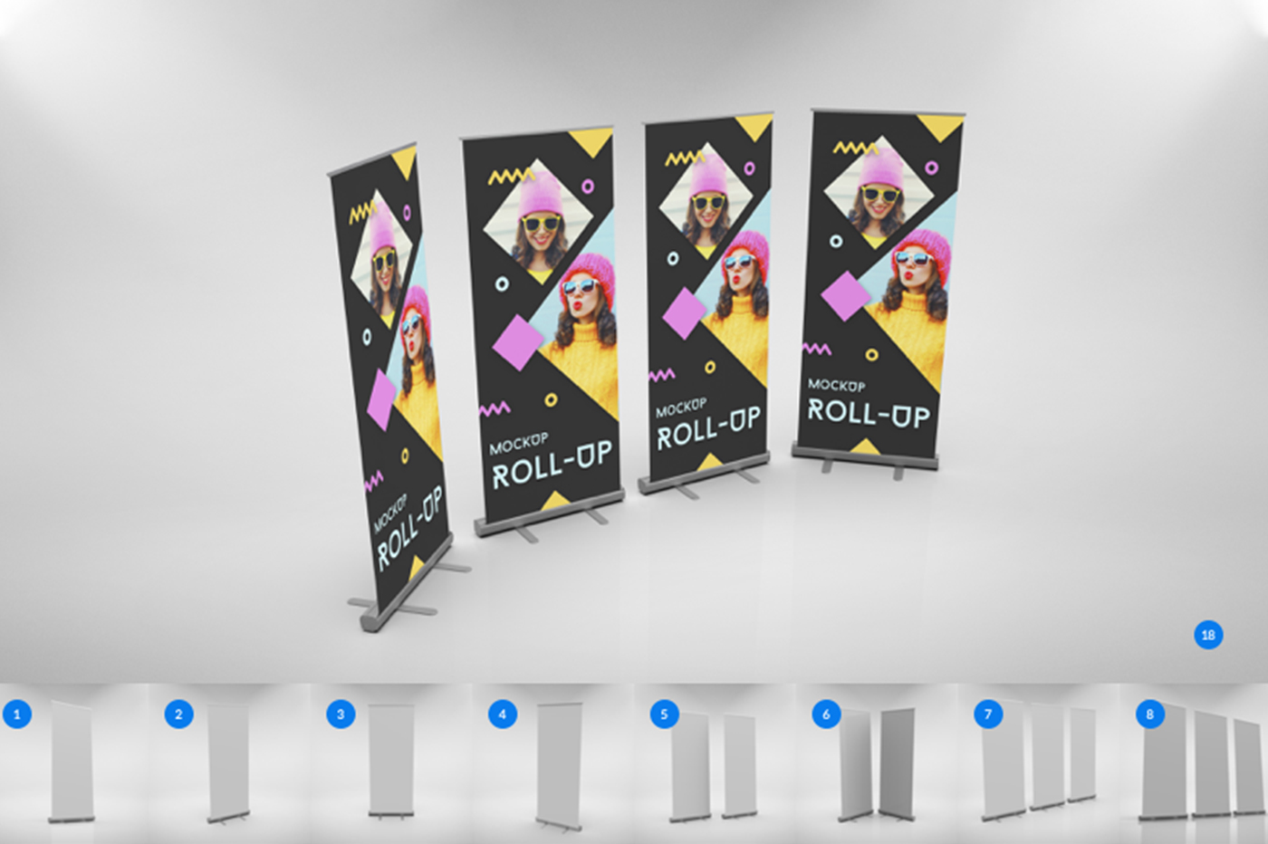 Single Roll-Up Mockup