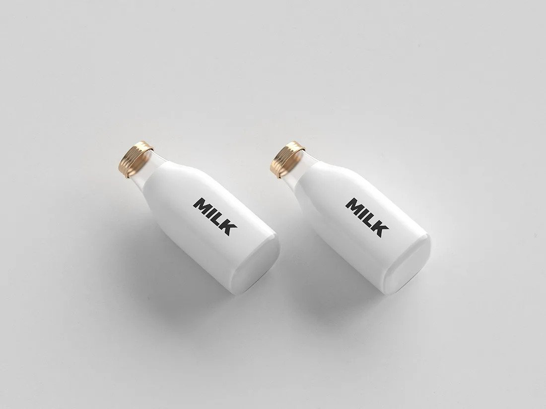 Two small Bottles Mockup