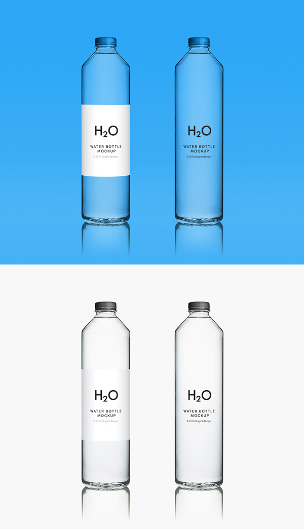 Clean Water Bottle Mockup