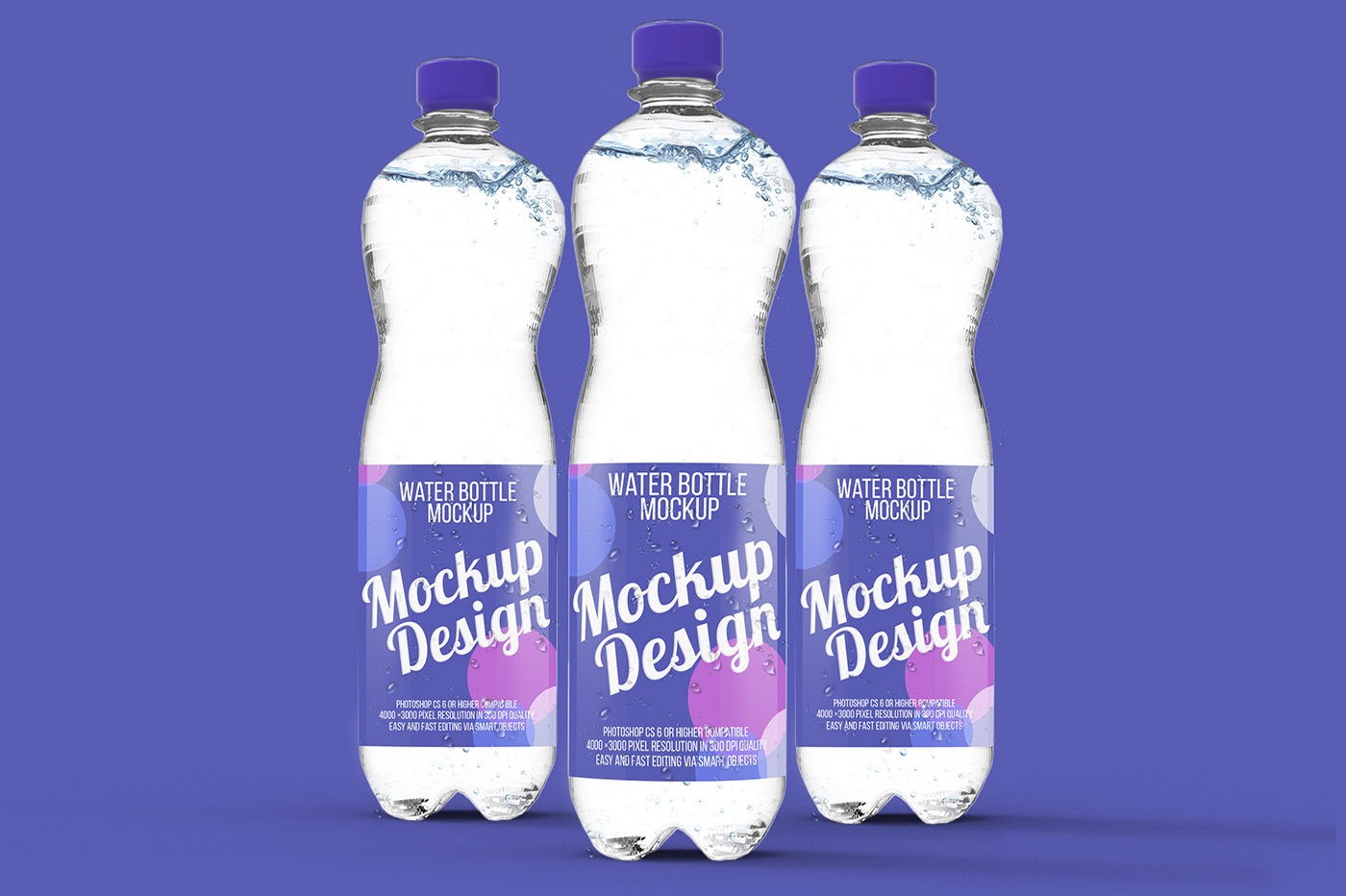 Water Bottle Mockup Set