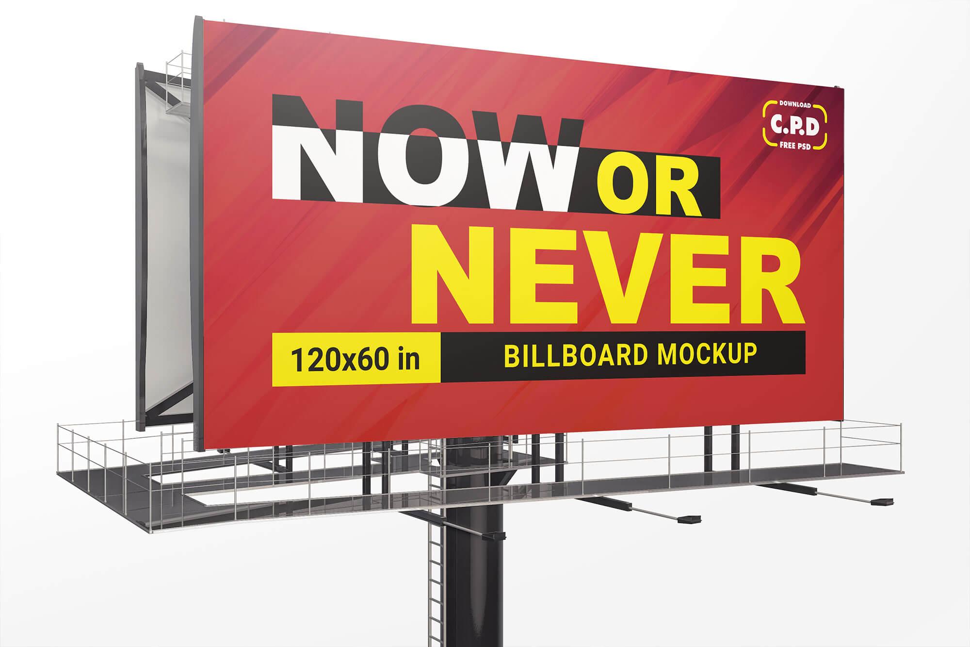 Billboard Mockup Psd, Holding mockup psd, big banner psd, banner design, banner mockup