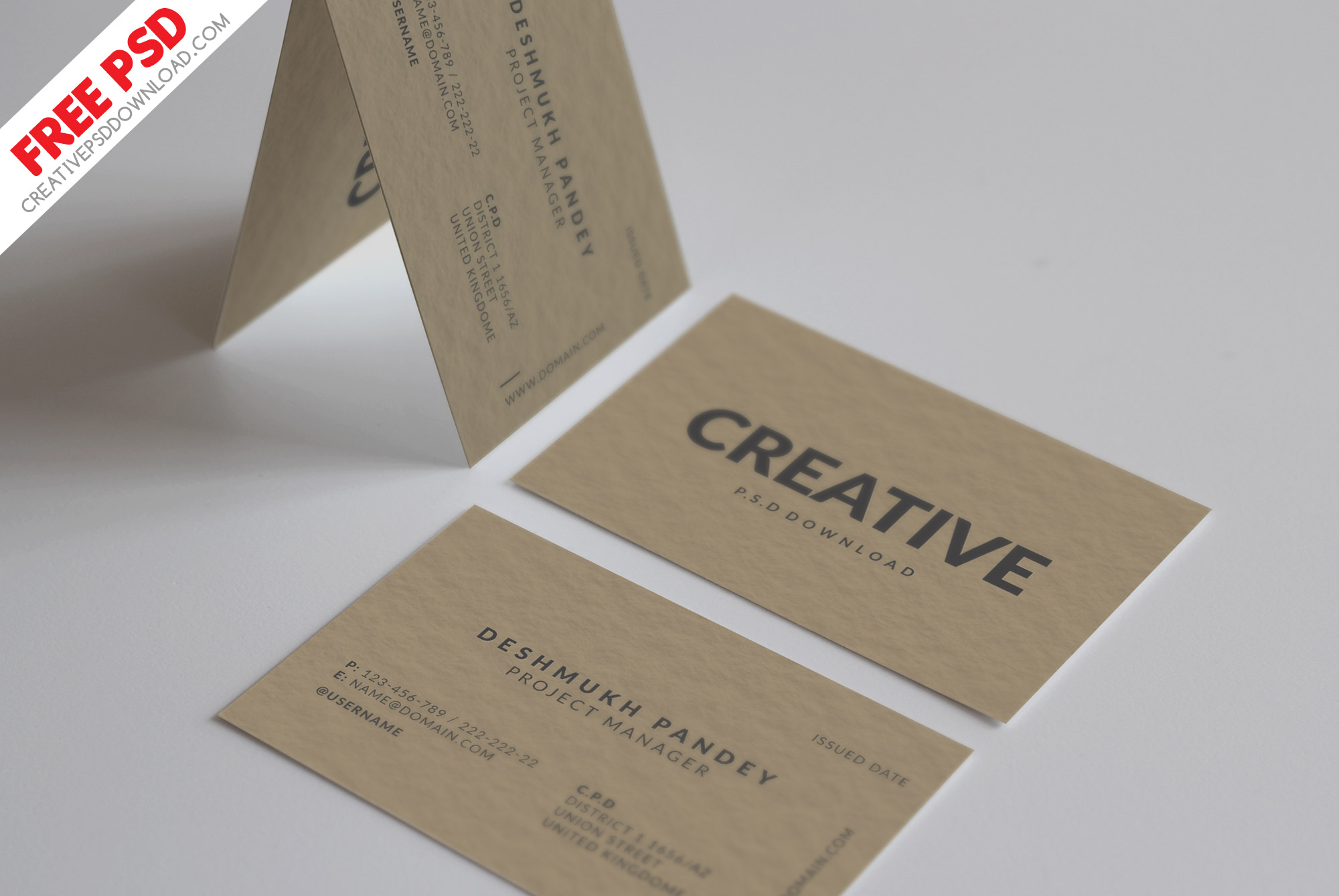 Minimal Classic Business Card Design Free Psd