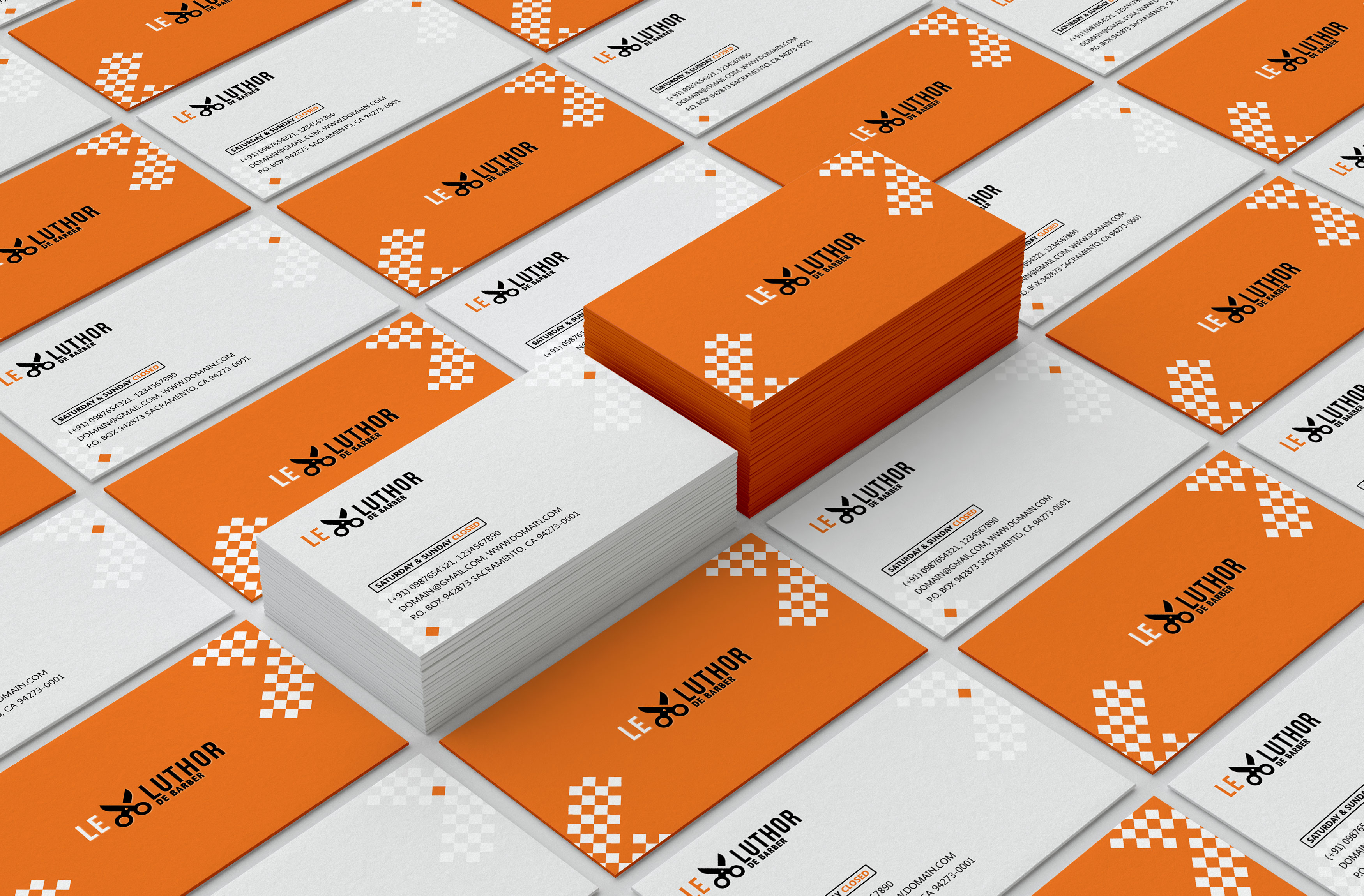 Hair saloon business card psd