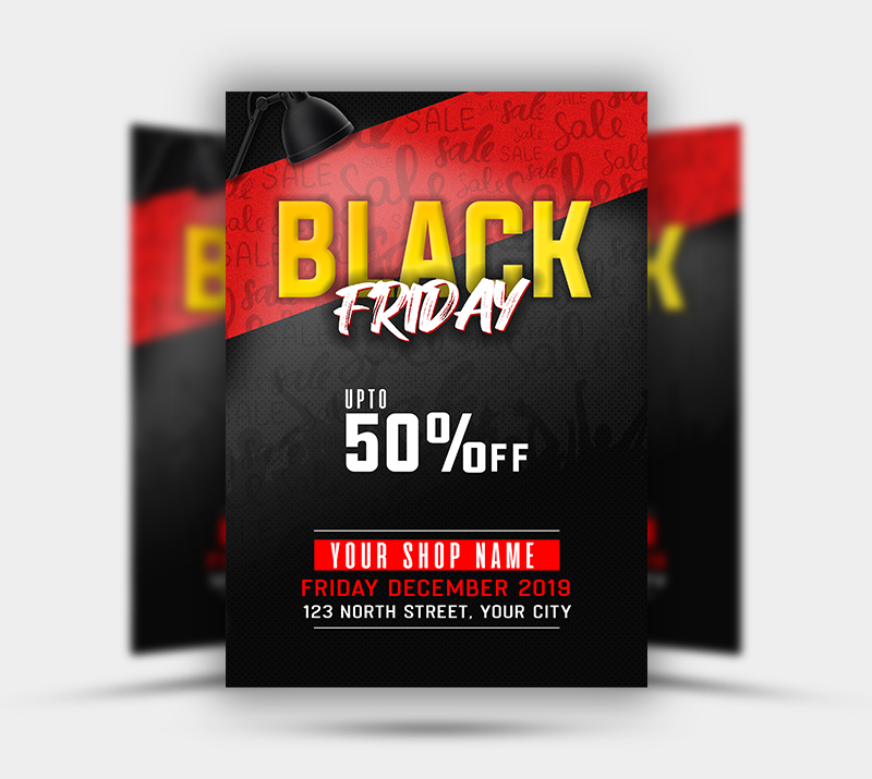 Black Friday Sale Free PSD Flyer