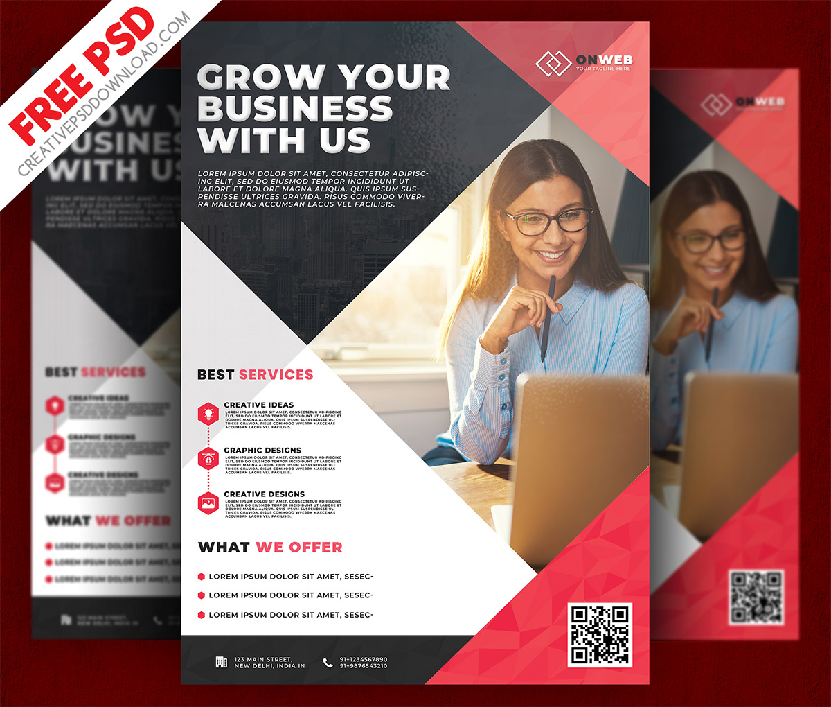 Business Flyer Free PSD Template