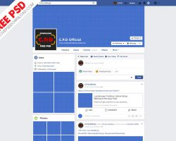 Facebook Page, Cover, Post Mockup Fully Editable PSD