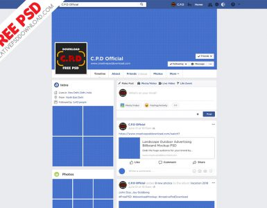 Facebook Cover Mockup Fully Editable PSD