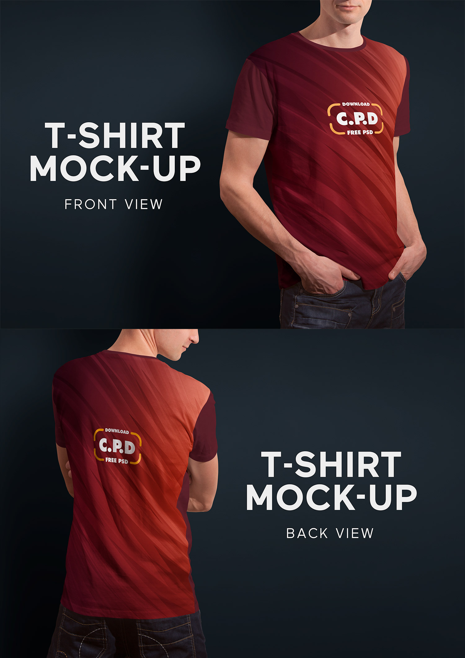 T-Shirt Mockup Front and Back