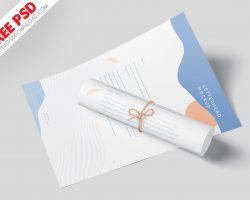 A4 Letterhead Mockup Vol-1 PSD