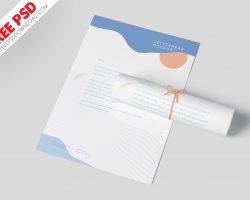 A4 Letterhead Mockup Vol-2 PSD