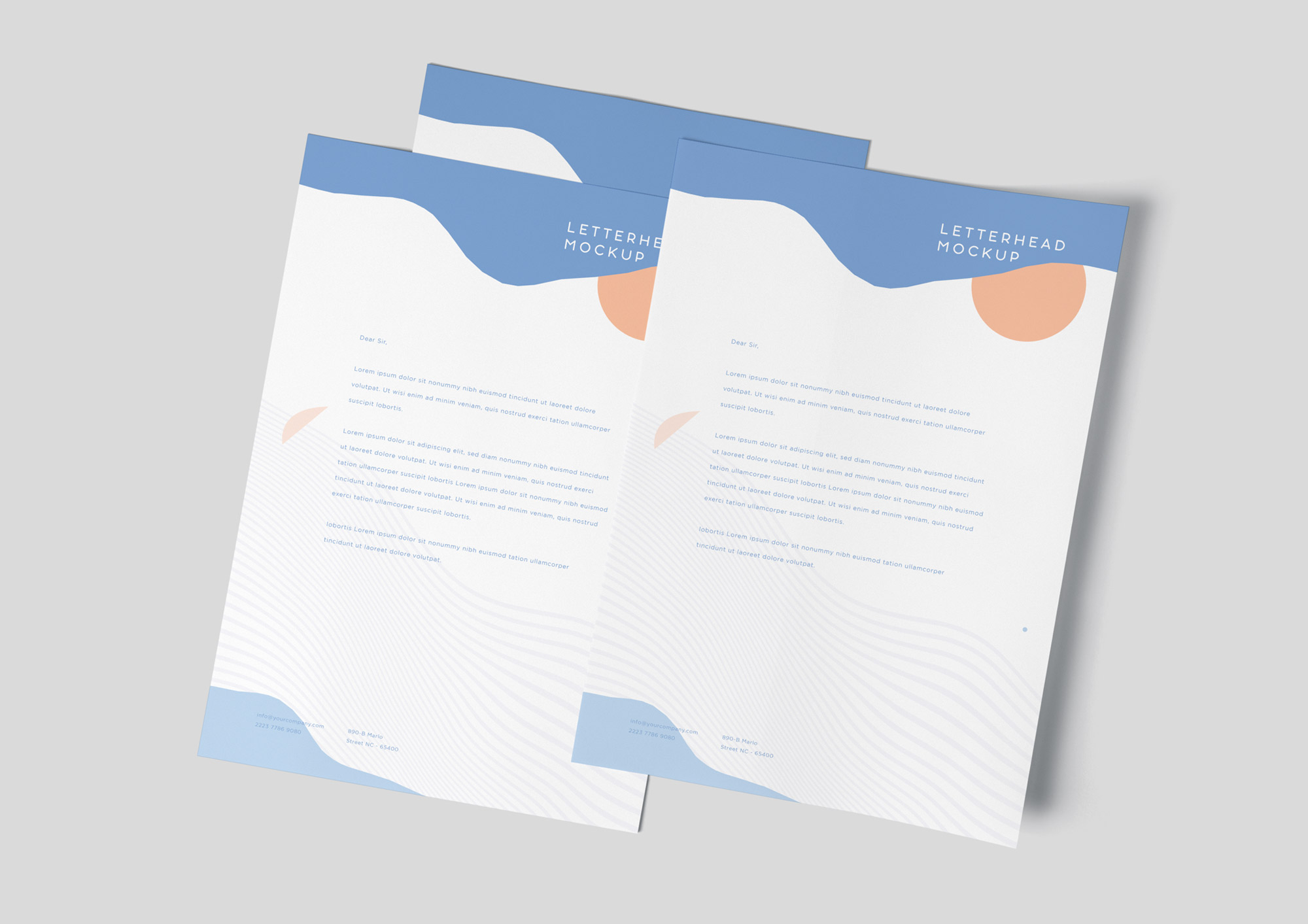 A4 Letterhead Mockup Vol-3 PSD
