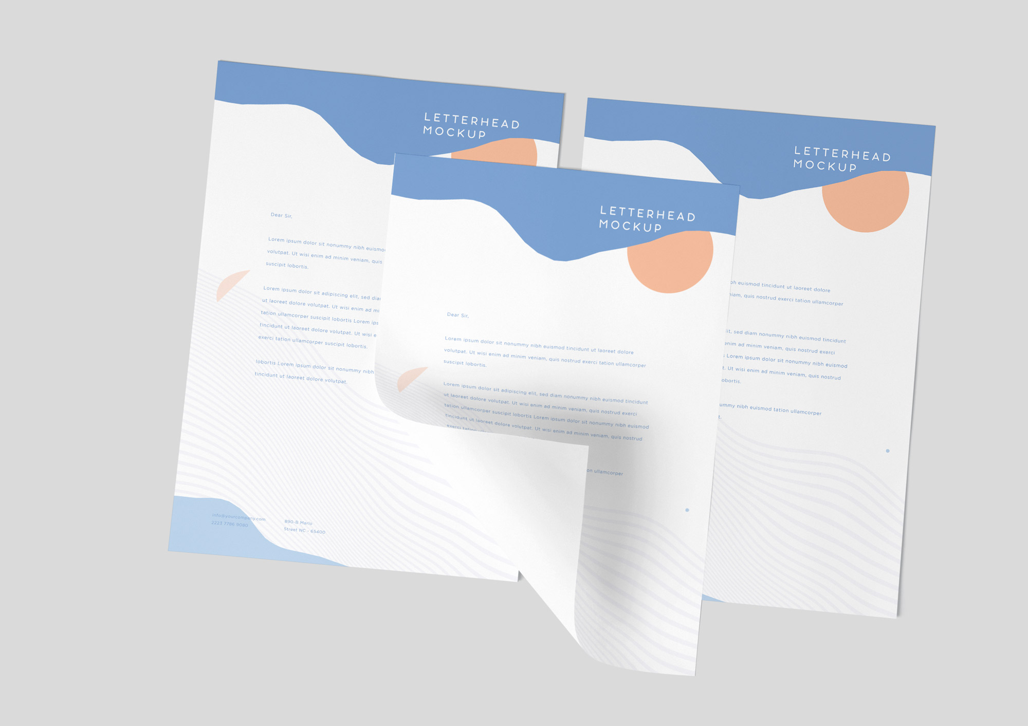 A4 Letterhead Mockup Vol-4 PSD
