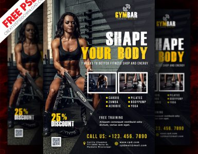 Fitness Flyer Free PSD Template