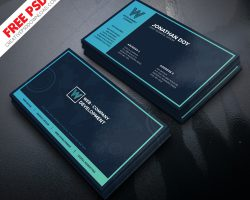 Web Development Company Business Card PSD