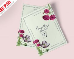 Wedding Invitation Card Design PSD