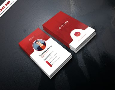 Corporate Business Card Freebie PSD