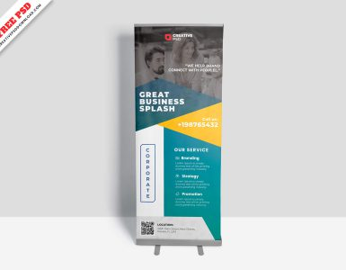 Corporate Roll-Up Banner Free PSD-Thumbnail