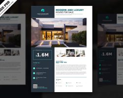 Creative Real Estate Flyer Free PSD