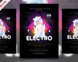 Elector Music Night Party Flyer Free PSD