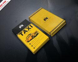 Taxi Service Business Card PSD Freebie
