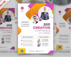 Meeting Corporate Flyer Free PSD