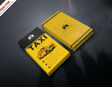 taxi business card psd