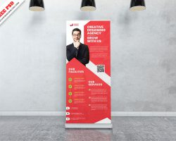 Corporate Creative Roll Up Banner PSD