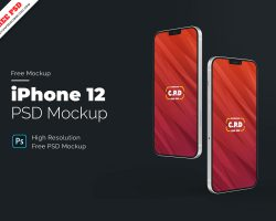 iPhone 12 Freebie PSD Concept Mock-Up