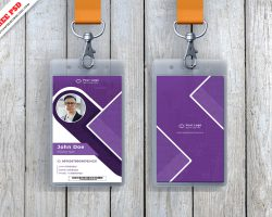 ID Card Mockup Freebie PSD