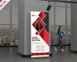 Creative Corporate Rollup banner standee PSD Free Download