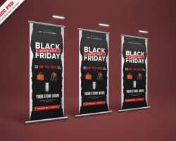 Black Friday Sale Banner Freebie PSD Standee Free Download