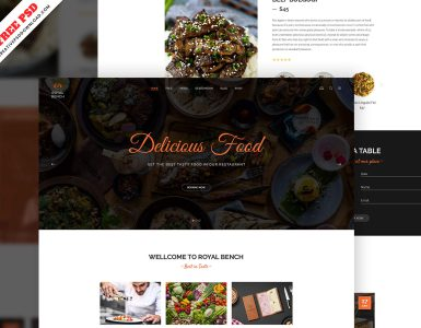 website template psd