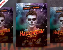 Halloween Party Flyer Template Free PSD Download