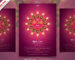 Diwali Sale Flyer PSD Free Download
