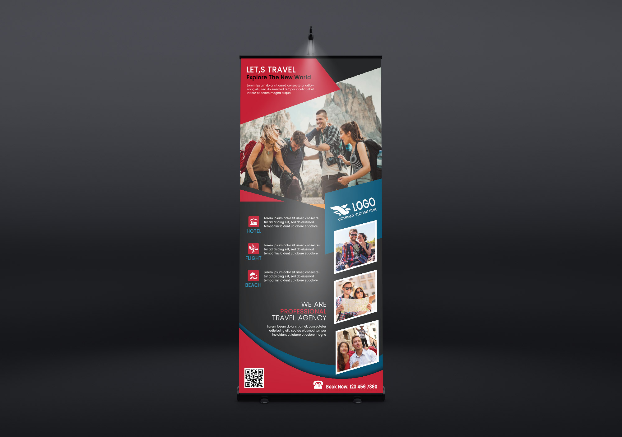 Travel Agency Rollup Banner PSD