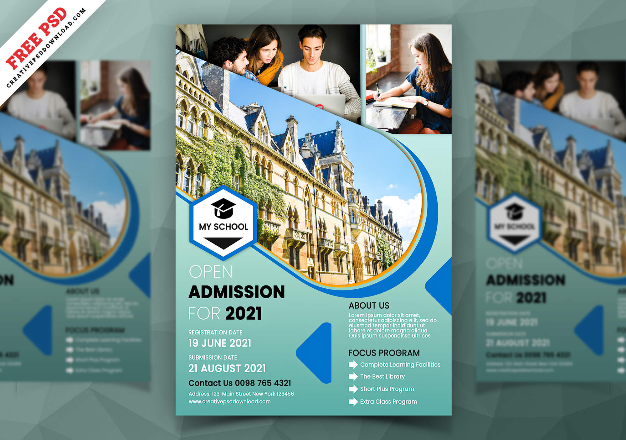 Corporate Business Flyer Free PSD - Educational Flyer